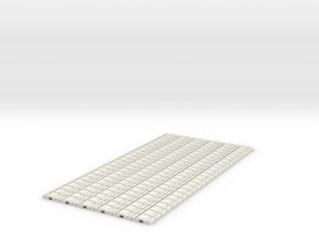 p-9stg-slim-flexi-tram-track-100-x144-1a in White Natural Versatile Plastic
