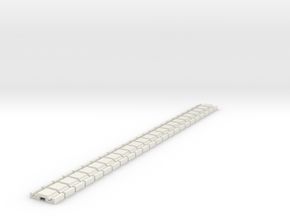 p-9stg-slim-flexi-tram-track-100-x24-1a in White Natural Versatile Plastic