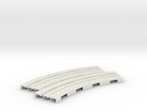 p-65stw-curve-tram-long-115r-100-w-1a in White Natural Versatile Plastic