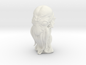 Cthulhu Head Bust in White Natural Versatile Plastic