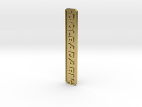 16mm Nameplate DOLBADARN (Quarry Hunslet) in Natural Brass