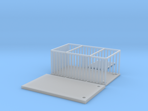 Animal Cage Nscale in Smooth Fine Detail Plastic
