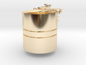 Christmas-napking holder in 14k Gold Plated Brass