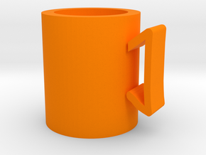cup in Orange Processed Versatile Plastic