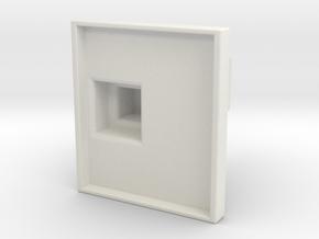 Sennebogen Portcab cab interior in scale 1:15 in White Natural Versatile Plastic: 1:15