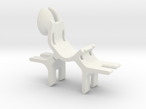 Bipod holder - small in White Natural Versatile Plastic
