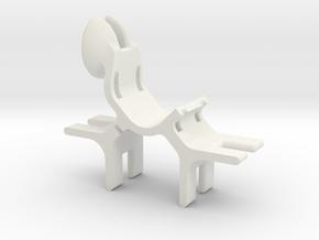 Bipod holder - small in White Natural Versatile Plastic
