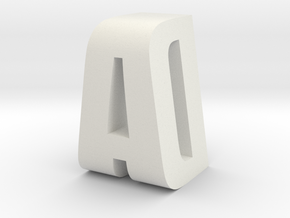 AD Monogram in White Natural Versatile Plastic
