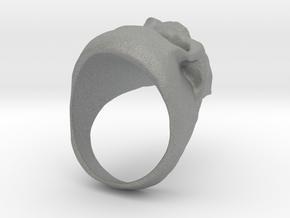 Skull Big Ring in Gray Professional Plastic: 8.5 / 58