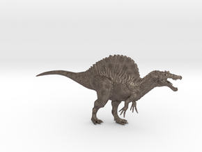 Spinosaurus 1/72 DeCoster in Polished Bronzed-Silver Steel