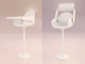 Kids Chair complete 6 in White Natural Versatile Plastic