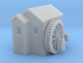 'N Scale' - Water Wheel House in Smooth Fine Detail Plastic