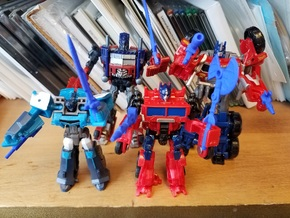 3mm Optimus Prime Weapons Pack in Blue Processed Versatile Plastic
