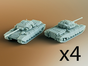FV201 (A45) British Universal Tank Scale: 1:285 x4 in Smooth Fine Detail Plastic