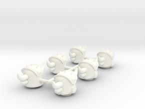 GOLDORAK in White Processed Versatile Plastic