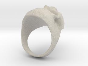 Skull Big Ring in Natural Sandstone: 8 / 56.75