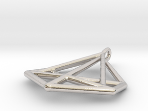 Triangle Pendant in Platinum