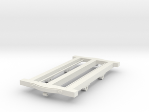 Nantlle Railway Wagon Underframe Type 1, 16mm Scal in White Natural Versatile Plastic