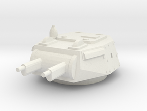 AB 40 turret scale 1/48 in White Natural Versatile Plastic