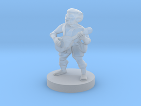 Halfling Bard in Smooth Fine Detail Plastic