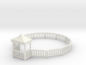 hampton fence with new style gate in White Natural Versatile Plastic