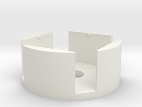 D6 Holder (12mm) in White Natural Versatile Plastic