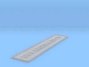 Nameplate USS Arizona (large) in Smoothest Fine Detail Plastic