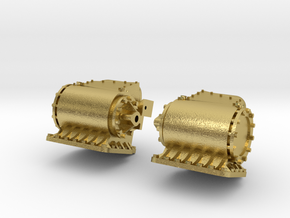 Cilinders SS 651, NS 8100 spoor 0 in Natural Brass