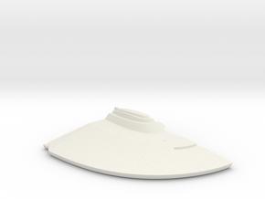 1/1000 Malachowski class - Left Lower Saucer in White Natural Versatile Plastic