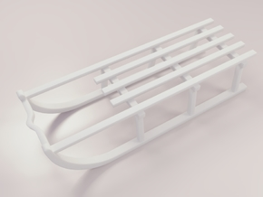 Miniature sled original in White Natural Versatile Plastic
