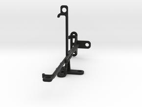 Nokia 8.1 (Nokia X7) tripod & stabilizer mount in Black Natural Versatile Plastic