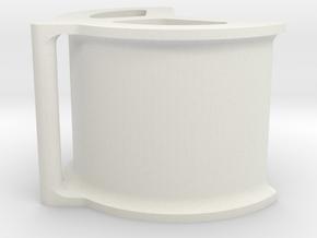 Cargo strap clamp for hexagonal builds in White Natural Versatile Plastic: Medium