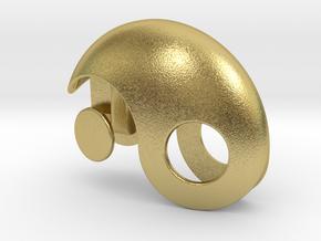 Yin Yang Gift box in Natural Brass