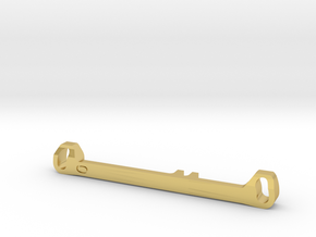 MC3 Wide Front End Stability Kit- Zero Toe Bar in Polished Brass