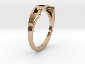 Crown Ring in 14k Rose Gold Plated Brass