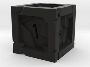 'Shatter' D6 in Black Natural Versatile Plastic