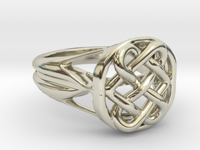 The Eternal Knot in 14k White Gold: 7 / 54