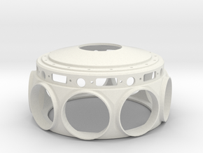 Le Rhone- 80hp - Crank Case - 1:4 Scale in White Natural Versatile Plastic
