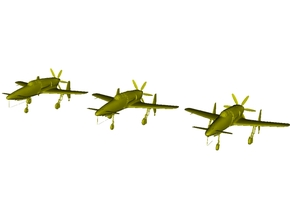 1/220 scale Kyushu J7W1 Shinden WWII fighters x 3 in Smooth Fine Detail Plastic