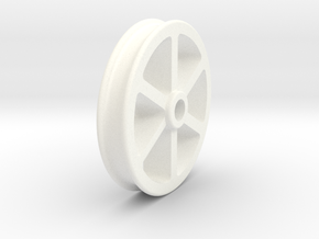 NRW01a Nantlle Railway Wagon Wheel, Single 16mm in White Processed Versatile Plastic