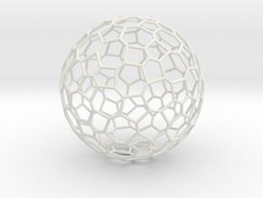 132hedron in White Natural Versatile Plastic