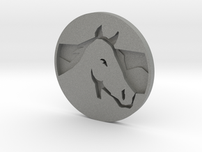Horse Pendant 2 in Gray PA12