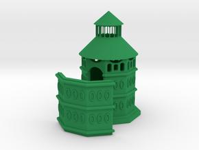 Cafe Achteck Toilette Bedürfnisanstalt in Green Processed Versatile Plastic