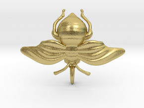 Bumblebee in Natural Brass