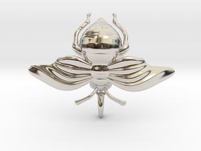 Bumblebee in Rhodium Plated Brass