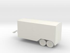 1/72 Scale 6x6 Jeep Van Trailer in White Natural Versatile Plastic