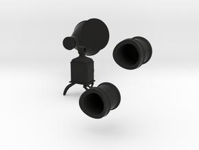 Central Pacific/Stevens Style Details in Black Premium Versatile Plastic: 1:22.5