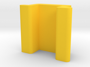 Expandable Ant Farm Male Stop in Yellow Processed Versatile Plastic