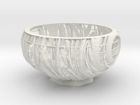 Storage basket in White Natural Versatile Plastic