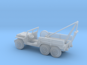 1/100 Scale 6x6 Jeep MT Wrecker in Smooth Fine Detail Plastic